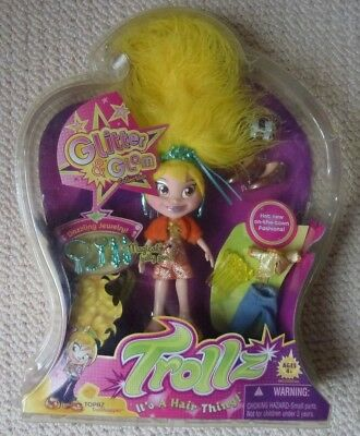 NIP Hasbro Trollz Topaz Doll with Accessories Glitter & Glam Collection 2005