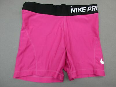 Nike Pro Size M Girls Youth Pink Athletic Dri-Fit Track Shorts 673