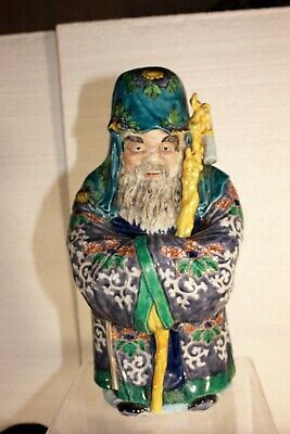 Museum Quality, Antique Chinese Porcelain Statue,12 Inches Tall, Solid & Heavy.