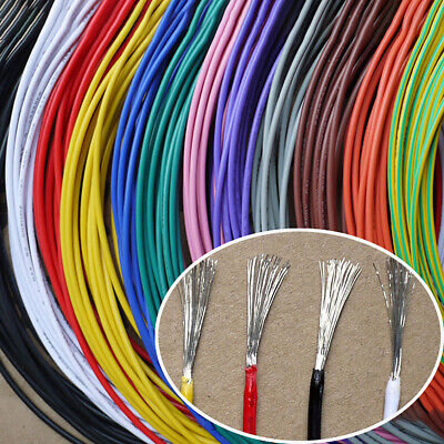 16awg - 30awg Flexible Electronic Wire UL1007 Stranded Cable 11 Colors Choose