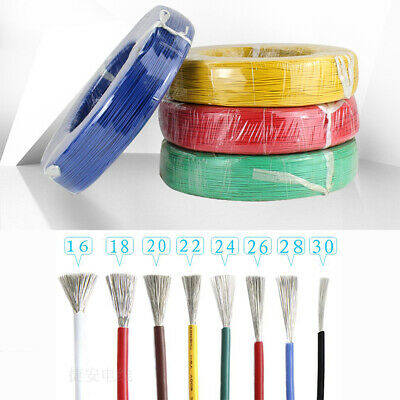 Colored Flexible PVC Electronic Wire 16-28 awg Tinned Copper Core Stranded Cable