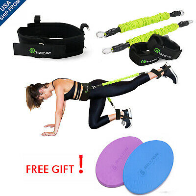 50LBs Exercise Belt Booty Band Set - Resistance Bands for Leg and Butt Muscle