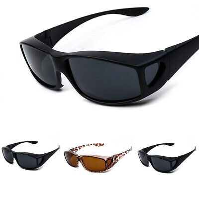 Polarized Sunglasses Fit Over Eye Glasses Driving Wrap Shield Fitovers Goggles