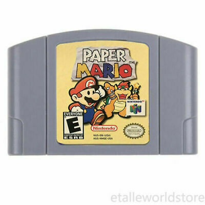 Nintendo N64 Video Game: Paper Mario Cartridge Console Card US/CAN Version
