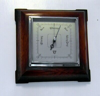 Art Deco Style 1940s SMITHS Oak Aneroid Barometer - Working