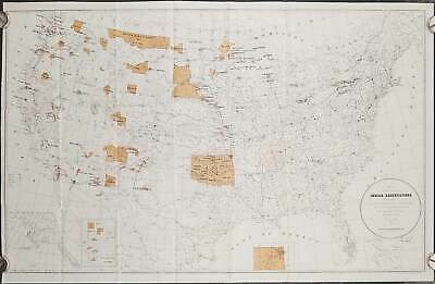 John D C Atkins / Map Showing the Location of the Indian Reservations Within