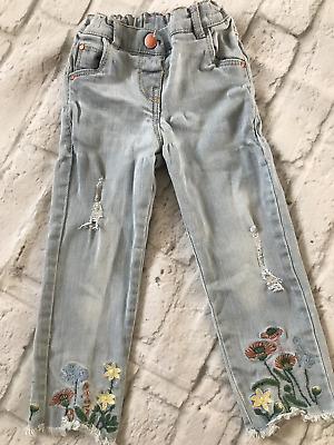 18-24 Months Next Floral Ripped Jeans
