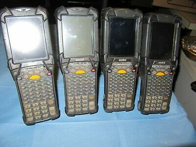 4 X  Motorola MC9090 GFOHJG2WR Wireless Laser Barcode Scanner Windows Mobile.