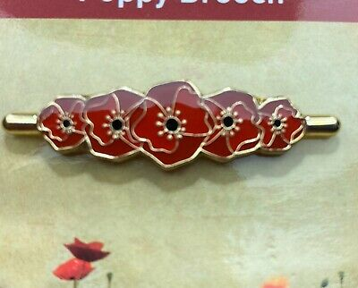 Remembrance Poppy Brooch Lapel Pin - ANZAC Day 40mm