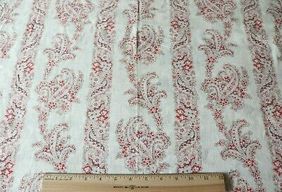"""Antique c1890 Printed Paisley Cashmere Wool Fabric~L-34""""X W-26"""""""