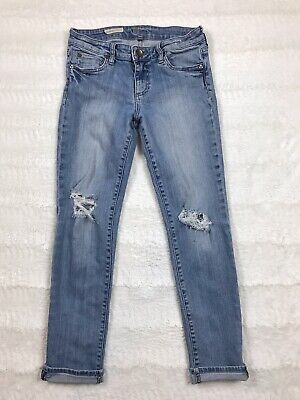 Kut from the Kloth Womens Jeans Size 0 Catherine Boyfriend Light Wash Distressed