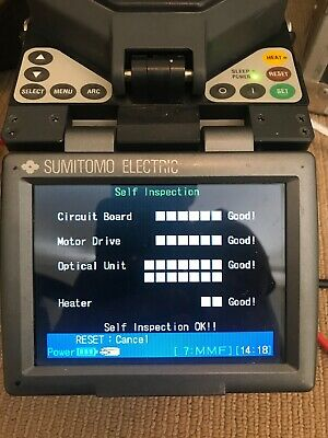 Sumitomo Type-37 SM MM Fiber Core Alignment Fusion Splicer w/ Cleaver