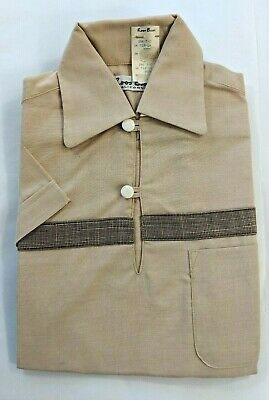 Vintage 40s 50s Roos Bros Child Boys Two Piece Shirt Shorts Set NEW WITH TAGS