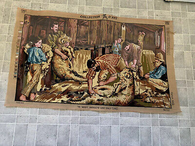 Collection D'art - Tapestry - Sheep Shearing - Started
