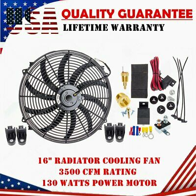 "CFM/'s 220W,3000 1955-1957 Ford Thunderbird 16/"" Electric Radiator Fan"