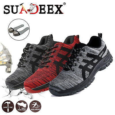 Mens Indestructible Safety Work Shoes Steel Toe Boots Outdoor Casual Sneakers