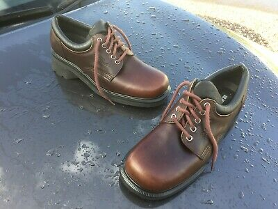 Vintage Dr Martens 8576 brown leather shoes UK 8 EU 42 Made in England