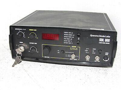 Spectra Diode Labs Laser Diode Driver Model SDL 800 TESTED AND WORKING