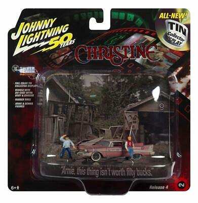CHRISTINE - 1958 Plymouth Fury Dirty + Arnie & Dennis ***Johnny Lightning 1:64