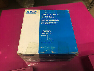 Unused Box of Genuine BEA 380/14 Industrial Staples - 14mm