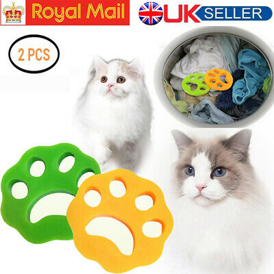 Reusable Pet Hair Remover Brush Cat Lint Dog Fur for Laundry Washing Machine UK