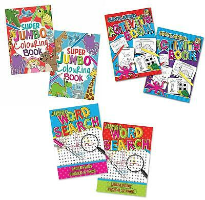 Jumbo A4 Kids Childrens Colouring Book Activity Book Puzzle Dot To Dot Drawing