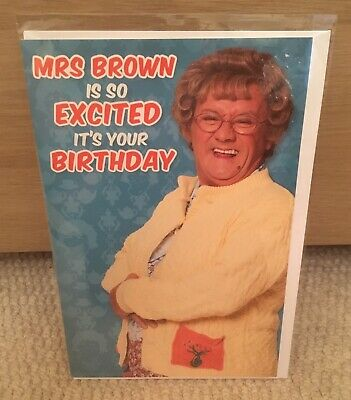 50TH BIRTHDAY CARD NEW MRS BROWN/'S BOYS 50 YEARS OLD AND STILL LOOKING GOOD ..