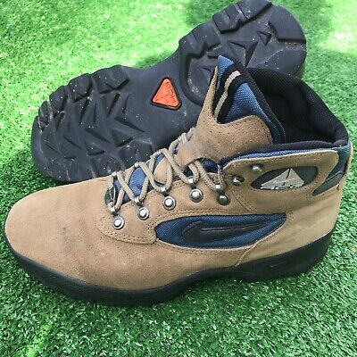Nike Vintage ACG Mens Hiking Boots Brown Size 8.5 185081-201 Spell Out Big Logo