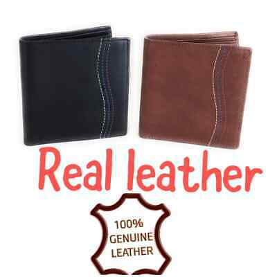 CREAM REAL LEATHER WALLET ID CREDIT CARD HOLDER PURSE STARHIDE MENS RED 810