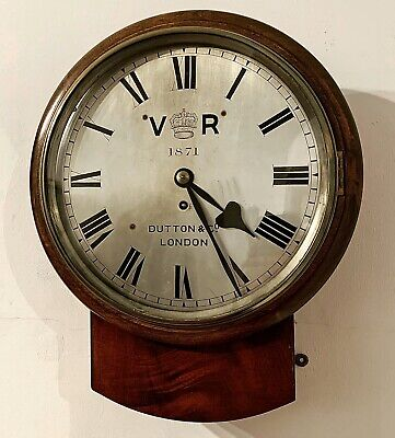 Rare Fusee Wall Clock By Dutton & Co of London