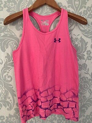 under armour girls Vest, Large Girls, Loose Fit, Pink, Vgc