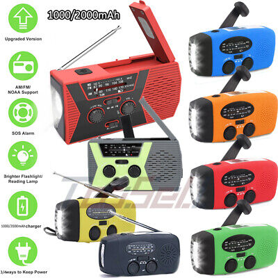 SOS Solar Hand Crank NOAA Weather Radio for Emergency with AM/FM Power Bank
