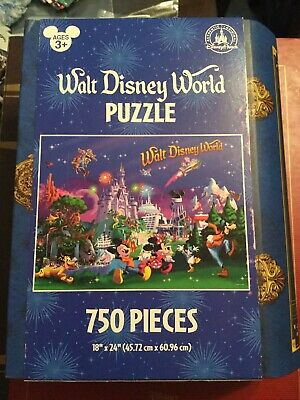 "Walt Disney World Puzzle Mickey And Friends Retired 750 Pieces 18""X24"" Storybook"