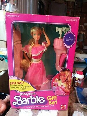 New 1982 Twirly Curls Barbie Doll Gift Set #4097 Rare Hard To Find By Mattel