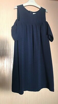 Girls Age 9 Years Next Navy Blue Cold Shoulder Dress