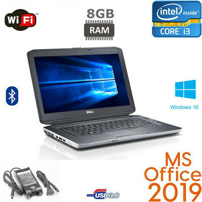 Fast Dell Students Laptop Core i3 laptop Win10 320GB 4GB Office 2019 HDMI