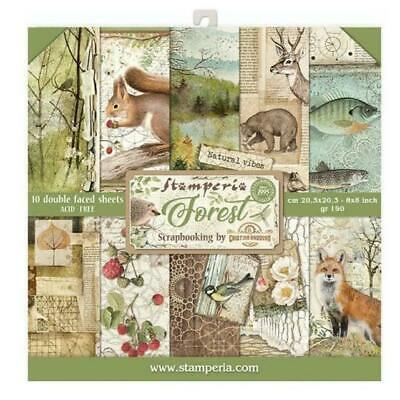 "Forest Stamperia 8"" x 8"" Scrapbook Papers 2020 Release"
