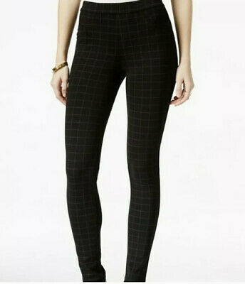 Sanctuary Grease Windowpane Print Leggings Skinny Pants Black Size M
