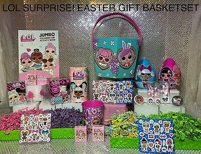Lol Surprise Doll Themed 🐰 Easter Birthday Gift Basket Set  🎁 Ready To Ship