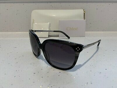 BRAND NEW Desinger Women's Fashion Chloe Sunglasses CE642S (026) Striped Grey