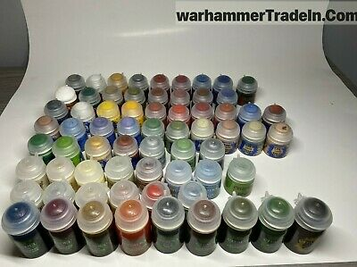 Warhammer Citadel Paint Lot - NEW - 67 Total -  Base - Layer Dry Shade Texture