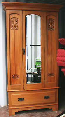 Early 20th Century Art Nouveau style Wardrobe