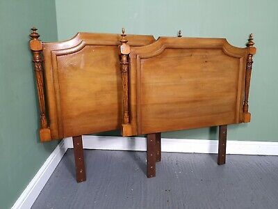 An Antique Style Pair of French Walnut Single Bed Headboards ~Delivery Available