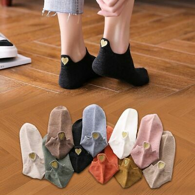 Socks Ankle Girls Cute Heart Casual Funny Sock 4 Pairs