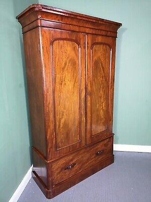 An Antique Victorian Mahogany Double Wardrobe ~Delivery Available~