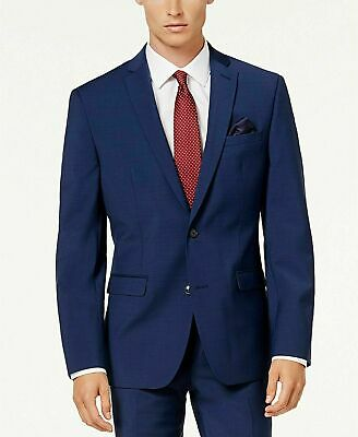 $600 Bar III Men's Slim-Fit Active Stretch Suit 38R / 32 x 30 Bright Navy Blue