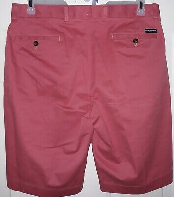 New Brooks Brothers Chino Golf Shorts Mens 34 11 Red Stretch Flat Front NWOT