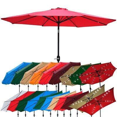 Garden Parasol Outdoor Patio Beach Umbrella Sun Shade Canopy 2.5m 2.7m 3m 4m