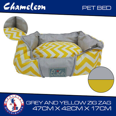 Pet Basket, Bed with Fleece Soft Comfy Fabric Washable Dog Cat 47x42x17cm