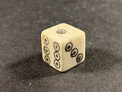 Ancient Roman B0Ne Dice - Intact With All 6 Sides Detailed - Circa. 100-300Ad